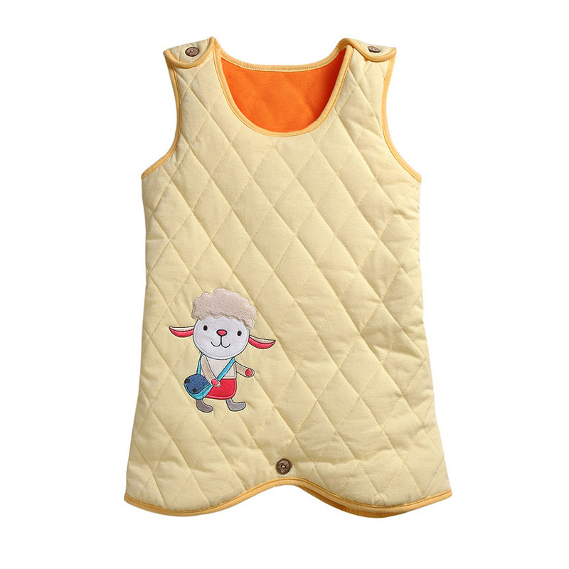 Free Shipping  New Fashion Autumn and winter baby cartoon style sleeping bag with Protect baby belly at night thicker S1205#