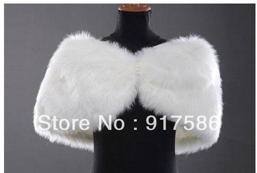 Free Shipping New Fashion GK Faux Fur Bridal Wrap Shawl Stole Tippet Wedding Jackets