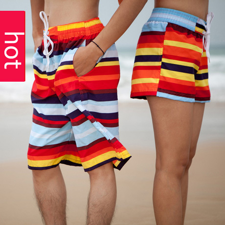 FREE SHIPPING new fashion lovers beach pants men and women hot sale big size Sports shorts male loose flat pants