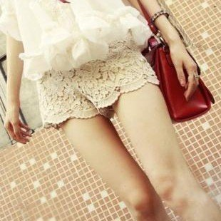 Free Shipping New Lace Vintage Flower Lady Hot Shorts Pant