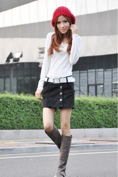 Free shipping  New large size women's boots, pants culottes leisure OL was thin woolen shorts