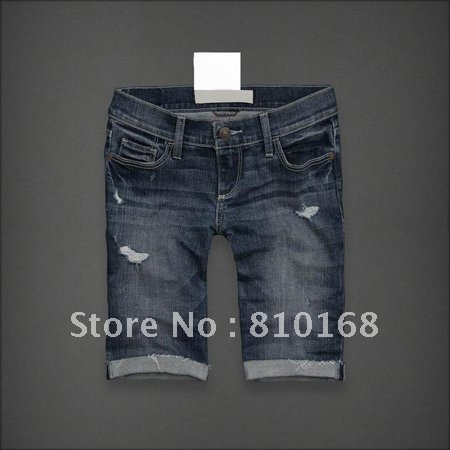 Free Shipping,New Style Women Short Jeans,Fashion short pants,Wash Denim Shorts,middle length jeans