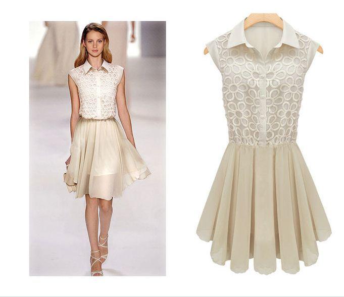Free shipping new summer dresses for women 2013 sexy fashion high street chiffon dress