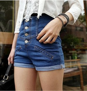 Free Shipping New Women Korean version  high waist denim shorts/ women's jeans/fashion pants/Wholesale/Retail
