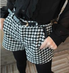Free shipping New women's fashion plover case spell skin joker cloth shorts bootcut hot pants