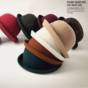 free shipping,Nifty bowler hats,lady dome bowler hat jazz cap