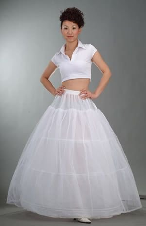 Free shipping Petticoat 3 Hoop 2 Layer Wedding Skirt For Ball Gown Fine Wedding Dresse Bridal Petticoat