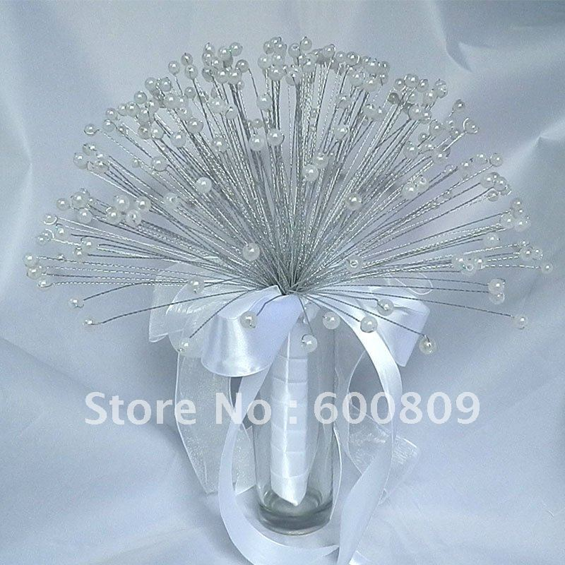 Free Shipping! Popular white pearl sparying bouquet bride wedding bridal bouquets,wedding flowers