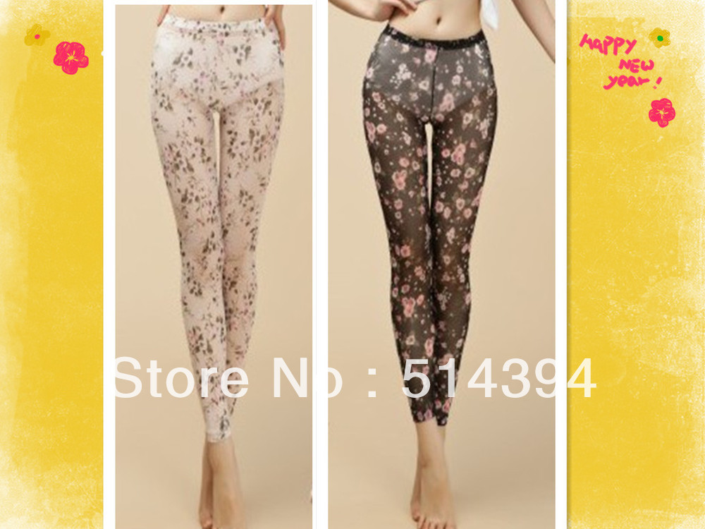 Free shipping!Price for 2  women's tight legging/ flower stocking/ sexy pants