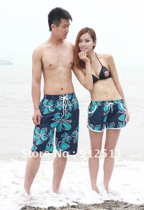 Free Shipping  Redbud Couple  Beach Pants Women/Men Loose  Shorts  Lover  Fashion Pants