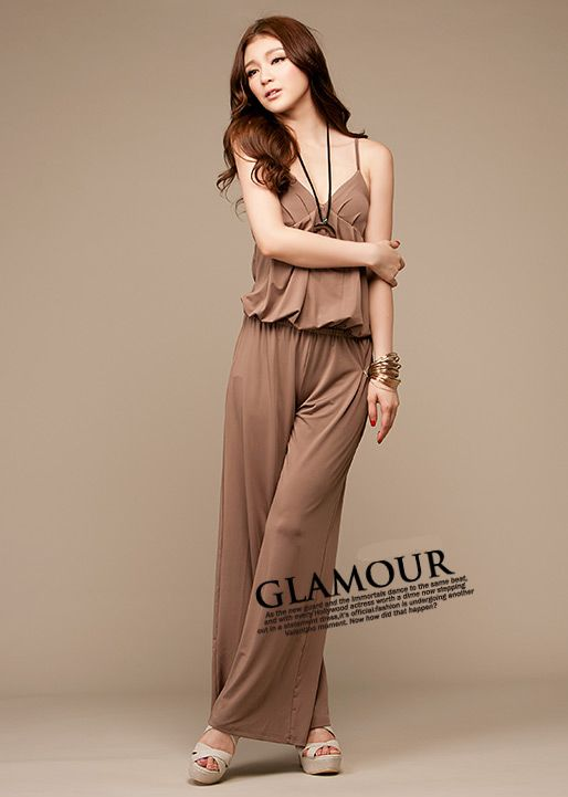 free shipping Retail summer loose sweety sexy fashion pure cotton women's Casual Spaghetti Strap Jumpsuits E170012