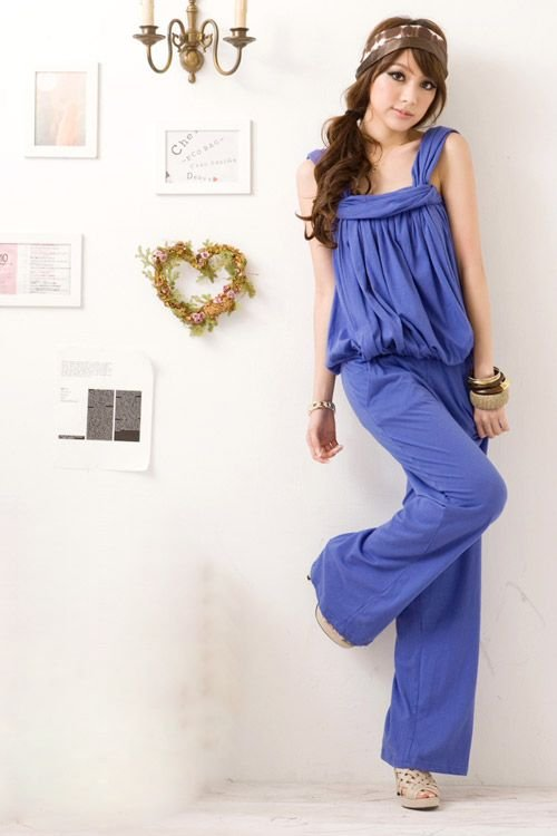 free shipping Retail summer sweety slim popular pure cotton sleeveless 3 colors women's Casual pants Jumpsuits E5246