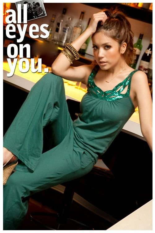 free shipping Retail summer sweety slim popular solid cotton 2 colors women's Casual Sequins Strap pants Jumpsuits E3775