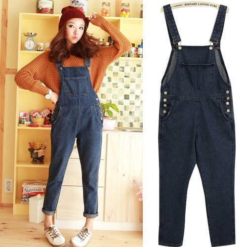 Free Shipping Retro Distresse Handweaving Braces Jumpsuit, KD Jeans, Rompers Overalls , Jeans clamdiggers cheap jeans