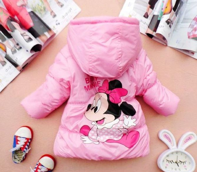 Free Shipping:Sale Minne mouse Jacket 1 pc/lot Children clothing 2~7years Kids clothes Winter coat