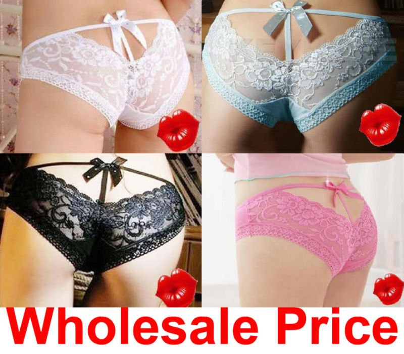 free shipping sexy Lace Cozy ladies thong lingerie Panties Briefs Underwear free size