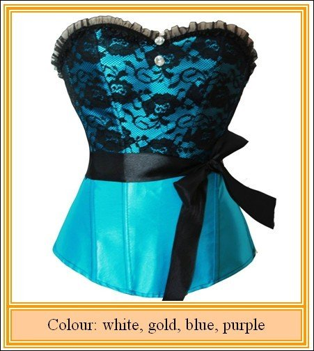 Free shipping Sexy Lingerie bustier corset + G-String  !wholesale