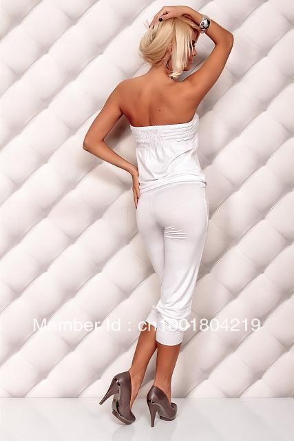 Free shipping Sexy lingerie jumpsuit lady's dress strapless women dress 1356 white, black, pink, blue, pink 5 colors