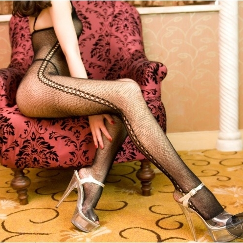 Free Shipping Sexy one piece women's fishnet bodystockings fashion bodysuit