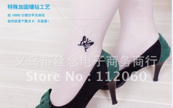 Free shipping sexy Tattoo filar socksfemale socks /tights /pantyhose wholesale 20 pairs/lot 2 Colors for choice