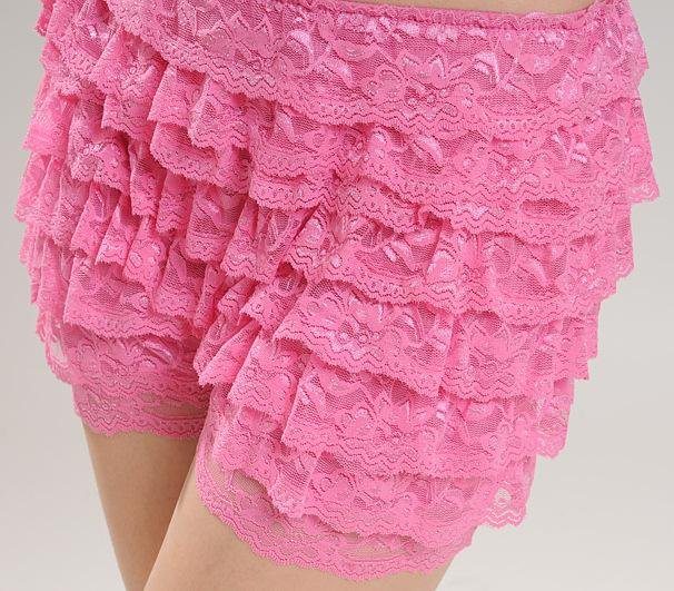 Free shipping! Sexy Women's short 8 layer flower lace cake skirt hots pants shorts 5 colors wholesale dropship