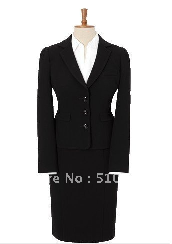 Free shipping Single-Breasted 3 Button Wool women Suit
