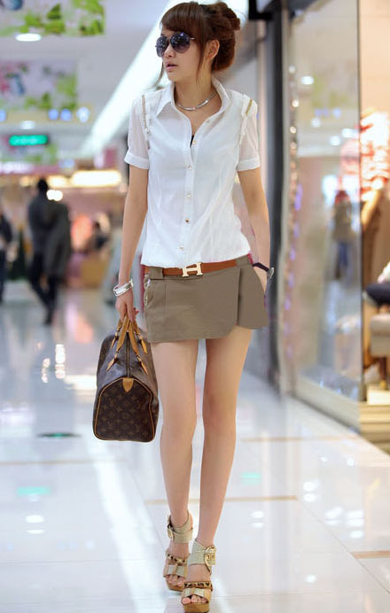 Free Shipping skorts shorts women, skirt pants, causal shorts for women, Pants with a Belt MG5988SK