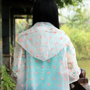 Free Shipping+ Small fresh eva adult raincoat fashion poncho thin