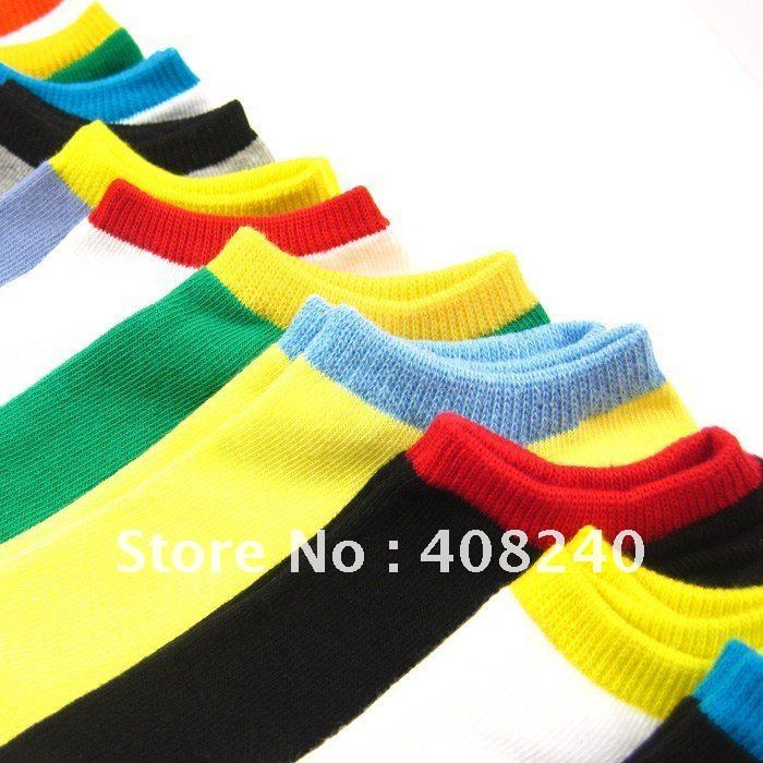 Free Shipping socks New lovely invisible sox candy color cotton