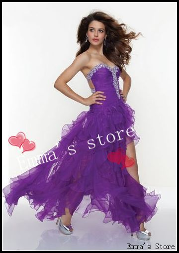 Free Shipping Sparkle 2013 New Off Price Top Quality Sexy A-Line Sweetheart Beaded Vent Purple Lady's Gowns Quinceanera Dresses