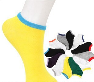 Free shipping spring summer and autumn man and women cotton socks cute candy  colors  wholesale cheap price 2013