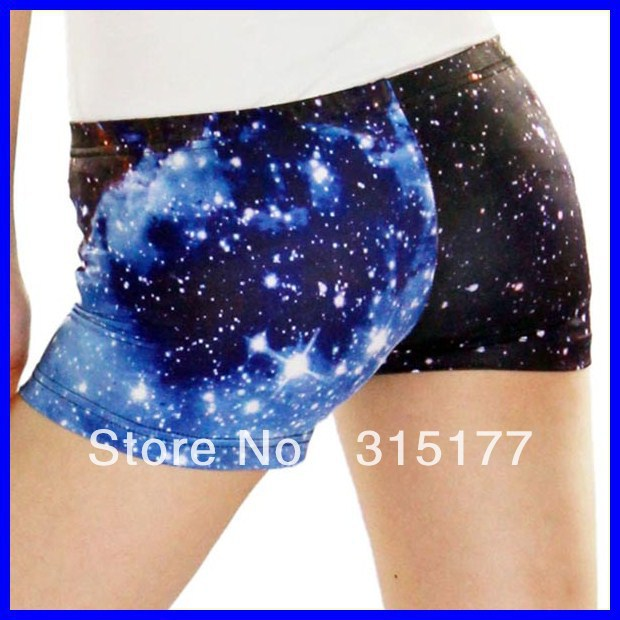 Free shipping Starry Sky Short Pant Black wholesale 10pieces/lot Mix order Tight high Shorts 2013 Women sexy pants 79165