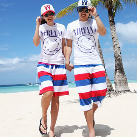 FREE SHIPPING Summe beach pants male sports shorts twill cotton The new fashion lovers beach pants men and women hot pants