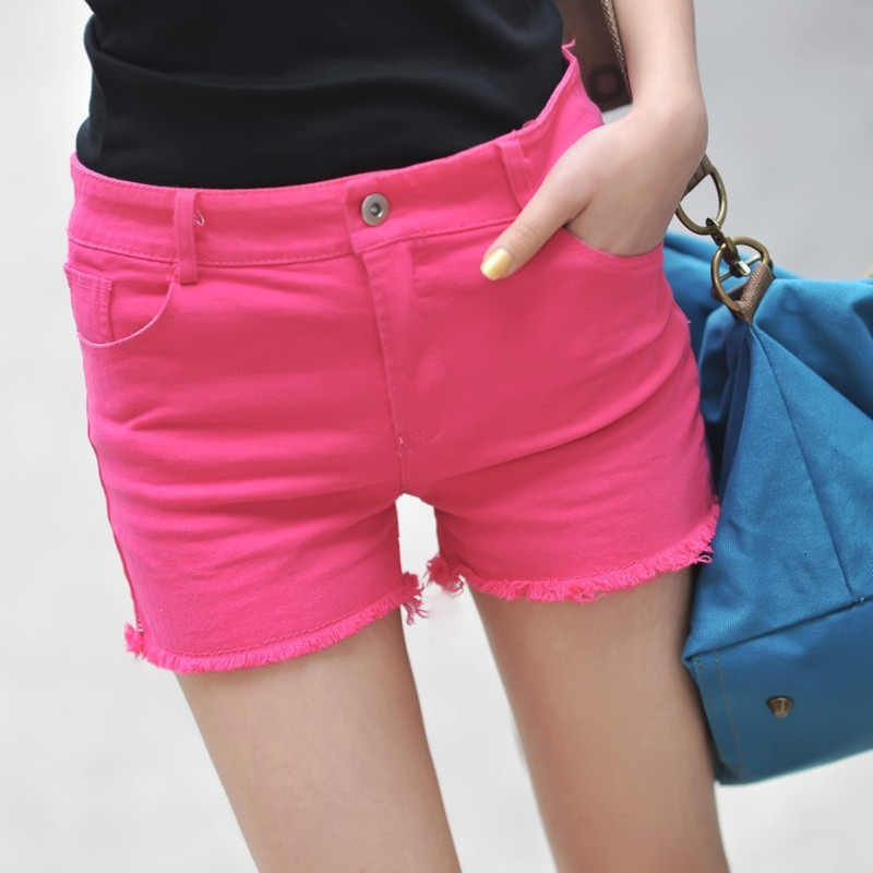 Free Shipping Summer 2012 women's slim butt-lifting personalized flash candy color legging shorts