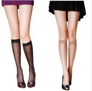 free shipping Summer ultra-thin Core-spun Yarn knee-high spring and summer stockings over-the-knee socks