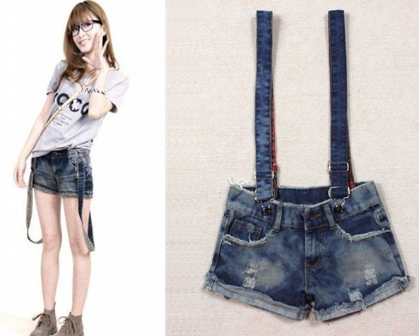 Free shipping Summer Women Short Jeans Women Overalls Denim Jumpsuit Lady shorts suspender pant