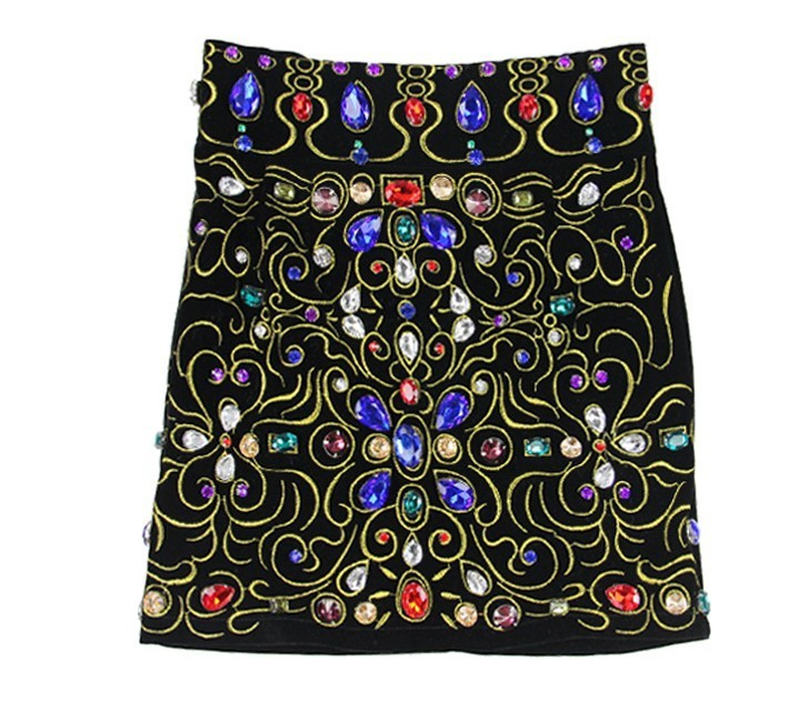 Free shipping  super gorgeous colored gemstones Baroque skirts notu844