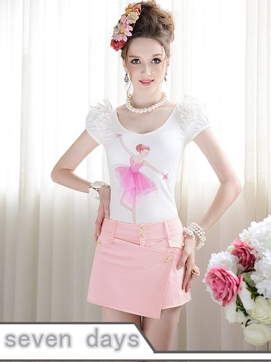 Free Shipping Sweet Lady Style Low Waist Solid Color Short Pants NL072306