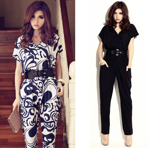free shipping The new European style of foreign trade in 2013 spring and summer fashion explosion models Jumpsuit Free Belt