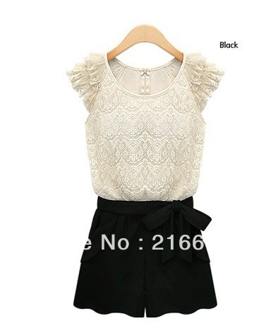 Free Shipping The Newest style fashion Emulation silk large size dress women shorts,women jumpsuits SIZE S,M,L XL, 2 colour