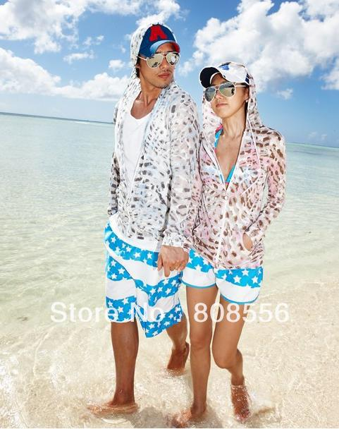 Free Shipping  the price of two pants sea-blue star couple beach pants women/men shorts of beach style trousers in stock