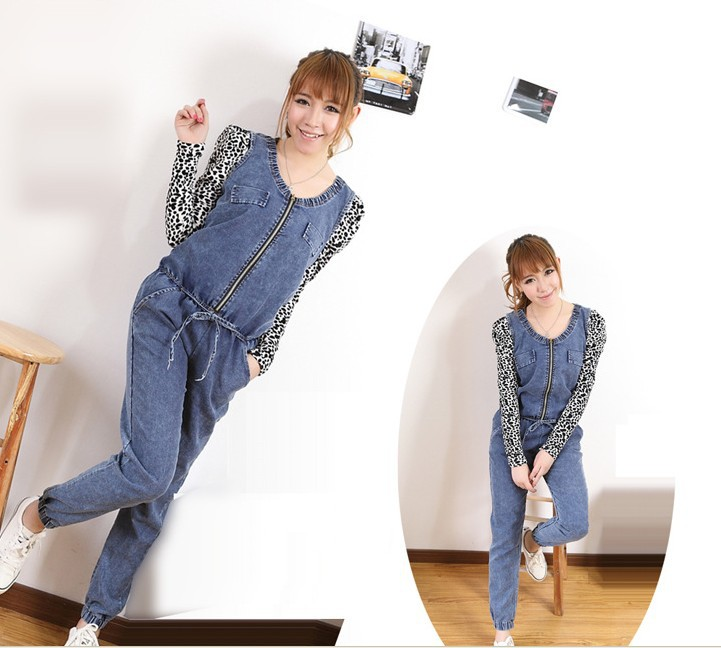 Free shipping, the spring and autumn period and the new multi-function han2 ban3 lady's cowboy overalls