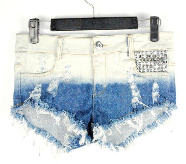 Free Shipping Tie dye colour wash water shorts  MI90023