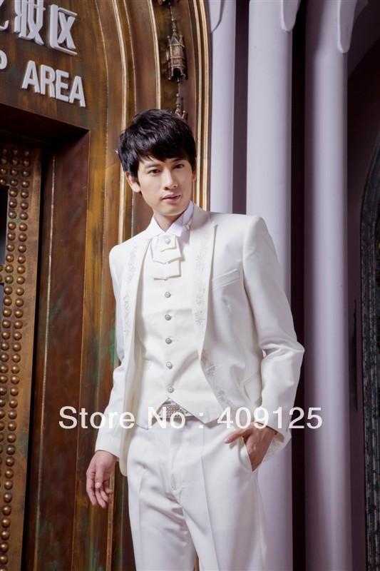 FREE shipping Top men's wedding suits Groom wear complete designer tuxedos Bridegroom groomsmen suits for men custom-made N366