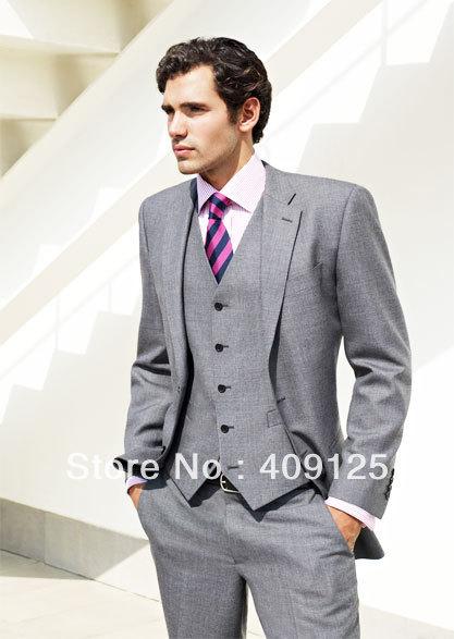 FREE shipping Top men's wedding suits Groom wear complete designer tuxedos Bridegroom groomsmen suits for men custom-made N375
