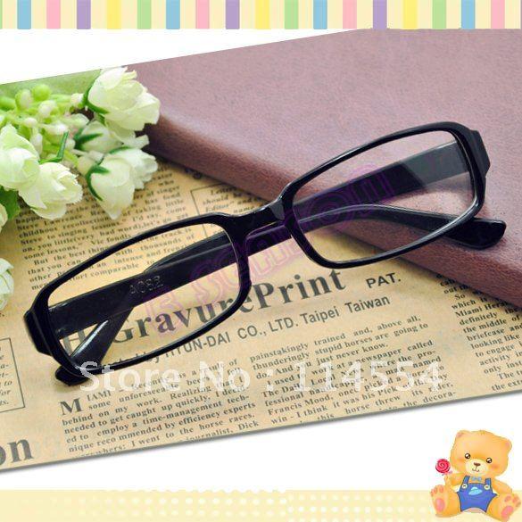 Free Shipping Unisex Black DJ Clear Lens Nerd Skater Polite Frame Glasses Eyeglasses 692