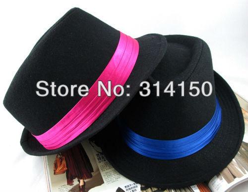 FREE SHIPPING----unisex fashion hats women/man wear popular fedora hats autumn/winter lovers felt woolen caps 1pcs h2407