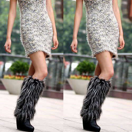 Free shipping vivi model recommend super hot fur  keep warm foot cover long pattern craft fur