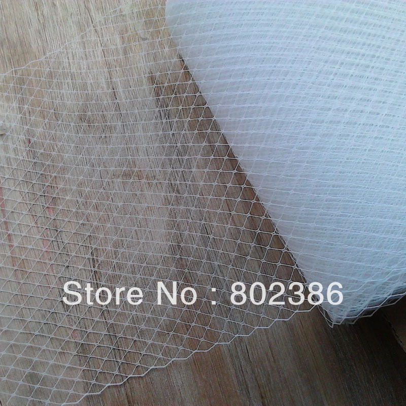 "Free Shipping White 10 yards per lot Birdcage veil 11"" Width Russian Veiling Netting"