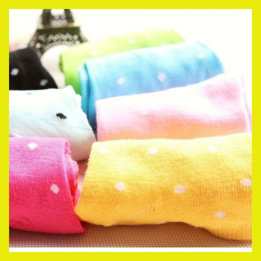 [Free shipping] Wholesale - 2012 New Arrival Women's Ankle Socks Combed Cotton Candy Color Lovers Sock Slippers